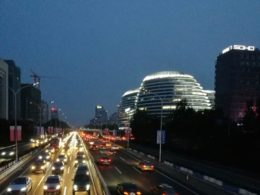 Beijing at night - Wangjing area
