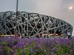 The Birds Nest Stadium from the 2008 Beijing Olympics