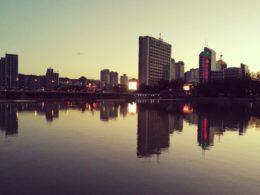 Solnedgang i Chengde