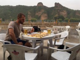 Students playing Chinese Chess