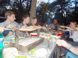 Enjoying Chinese food with LTL Mandarin School