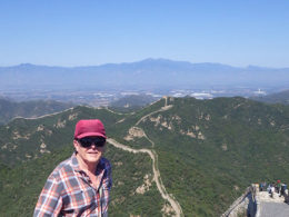 Taking a break on the Great Wall