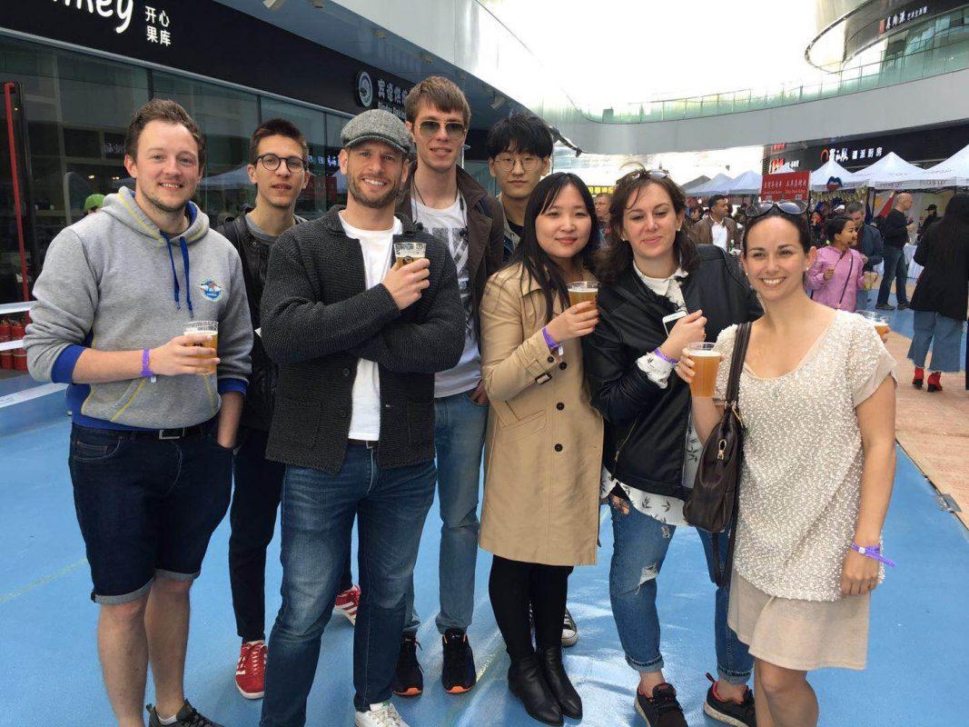 Mark, klassekamerater, og Beijing-teamet ute i Beijing
