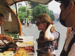 Buying breakfast in Beijing