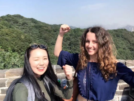 Marie and Jasmine conquering the Great Wall of China