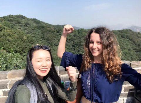 Jasmine fra Italia på den kinesiske muren